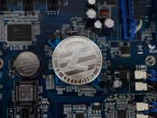 Litecoin on electronic computer processor board